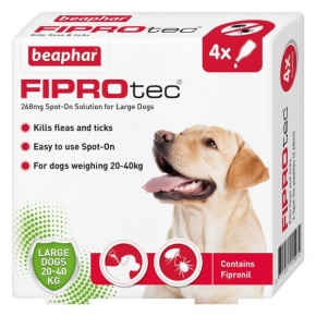 Beaphar Fiprotec Spot On Large Dog 267mg X 4 New Style