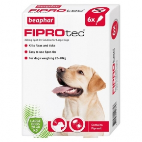 Beaphar Fiprotec Spot On Large Dog 267mg X 6 New Style