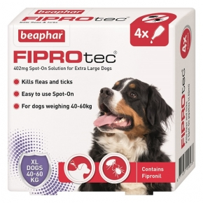 Beaphar Fiprotec Spot On Extra Large Dog 402mg X 4 New Style