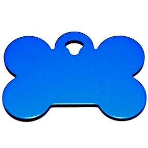 Engraved Large Blue Bone Dog Tag - Cat Tag
