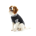 Buster Body Suit Classic For Dogs Black / Grey 46cm M