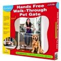 CarlsonHands Free Pet Gate Light Grey 76x18x90cm