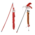 Cat Circus Fluffy Festive Fishing Poles Cat Toy