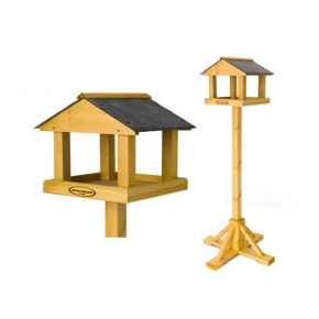The Chatsworth Premium Bird Table - Natural Slate Roof By Johnston And Jeff