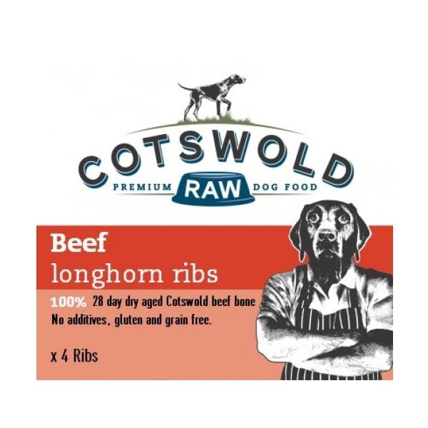 Cotswold Raw Beef Longhorn Ribs X Four Frozen