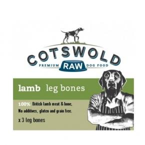 Cotswold Raw Lamb Leg Bones Three Pack Frozen