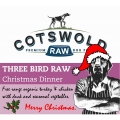 Cotswold Christmas Dinner - Three Bird Raw - 1kg Dog Food Frozen