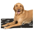 Black / Silver Vet Fleece Dog Bed - Danish Design 75 X 100 Cm