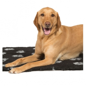 Black / Silver Vet Fleece Dog Bed - Danish Design 75 X 100 Cm
