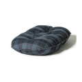 "Large+ Navy & Grey Cushion Dog Bed - Danish Design Lumberjack 35"" - 89cm"