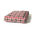 Large Red / Grey Duvet Dog Bed - Danish Design Lumberjack Boxed