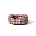"Large++ Red / Grey Lumberjack Print Deluxe Slumber Dog Bed - Danish Design 40"" 101cm"