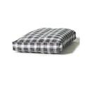 Large White / Navy Duvet Dog Bed - Danish Design Lumberjack Boxed
