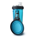 Dexas Popware Snack - Duo Blue Inc. Travel Cup 12oz 360ml
