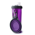 Dexas Popware Snack - Duo Purple Inc. Travel Cup 12oz 360ml