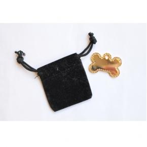 Engraved Large Jewel Gold Bone Dog Tag - Cat Tag