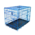 "Dog Life Large Double Door Crate In Blue L36"" X W22"" X H25"" - L91 X W56 X H64 Cm"