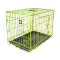 "Dog Life Large Double Door Crate In Green L36"" X W22"" X H25"" - L91 X W56 X H64 Cm"