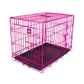 "Dog Life Large Double Door Crate In Pink L36"" X W22"" X H25"" - L91 X W56 X H64 Cm"