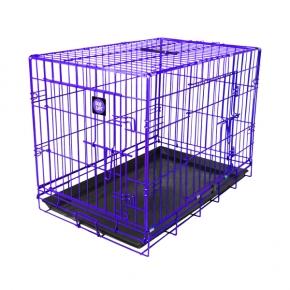 "Dog Life Jumbo Double Door Crate In Purple L48"" X W29"" X H32"" - L122 X W74 X H81 Cm"