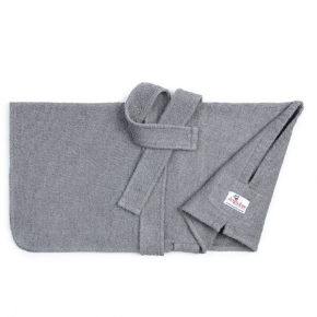 "Dogrobes Drying Coat Extra Large Limited Edition Grey Girth - Length – 36"" - 91Cm"