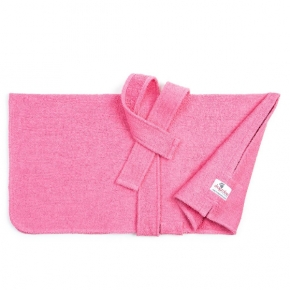 "Dogrobes Drying Coat Extra Small Limited Edition Pink Girth - Length – 24"" - 61Cm"