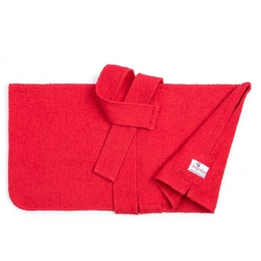 "Dogrobes Drying Coat Extra Large Classic Red Girth - Length – 36"" - 91Cm"