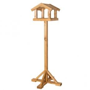 The Drummond Premium Range Bird Table - Larch Roof By Johnston And Jeff