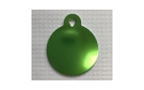 Large Circle Green Dog or Cat Tag