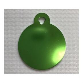 Large Circle Green Dog or Cat Tag