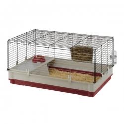 Krolik Small Animal Cage Burgundy 100 X 60 X 50cm