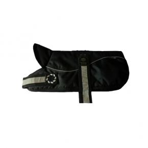 """Animate - Outhwaite Reflective Black / Black Padded Harness Coat 26"""" (66cm)"""