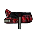 "Animate - Outhwaite Reflective Black / RedTartan Padded Harness Coat 22"" (56cm)"
