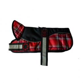 "Animate - Outhwaite Reflective Black / RedTartan Padded Harness Coat 8"" (20cm)"