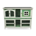 Harrisons Buttermere Double Height Hutch Sage Green 150x60x116cm