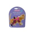 Hem And Boo Kitty & Co Spotty Kitten Harness And Lead Set