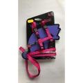 Hem And Boo Spotty Cat Adjustable Harness & Lead Set Pink/ Blue