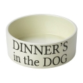 Dinners In The Dog Dog Bowl Large Cream House Of Paws