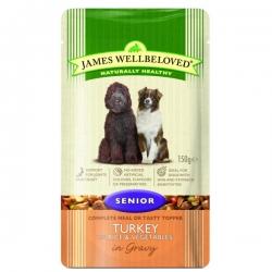James Wellbeloved Senior Cat Pouch Turkey 85g