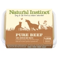 Natural Instinct Pure Raw Beef Dog & Cat (2x 500g) Twin Pack Frozen