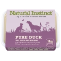 Natural Instinct Pure Raw Duck Dog & Cat 1kg Frozen