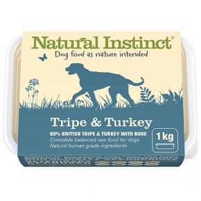 Natural Instinct Natural Tripe & Turkey Dog 1kg Frozen