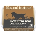Natural Instinct Natural Working Dog Beef And Chicken 1kg Frozen