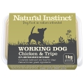 Natural Instinct Natural Working Dog Tripe & Chicken 1kg Frozen