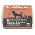 Natural Instinct Natural Working Dog Salmon And Chicken 1kg Frozen
