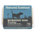Natural Instinct Natural Working Dog Turkey 1kg Frozen
