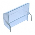 Clear Plastic Seed Hopper 7.6cm Hatchwell