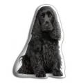 Adorable Black Cocker Spaniel Cushion