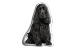 Adorable Black Cocker Spaniel Cushion
