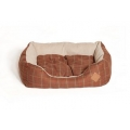 Danish Design Tweed Brown Dog and Cat Snuggle Bed 46cm 18""